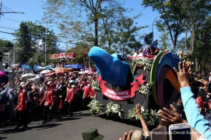 Tanpa pidato, Jokowi buka Karnaval Kemerdekaan