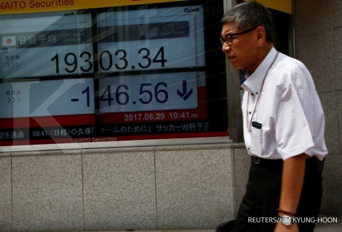 Arah bursa Asia berpencar