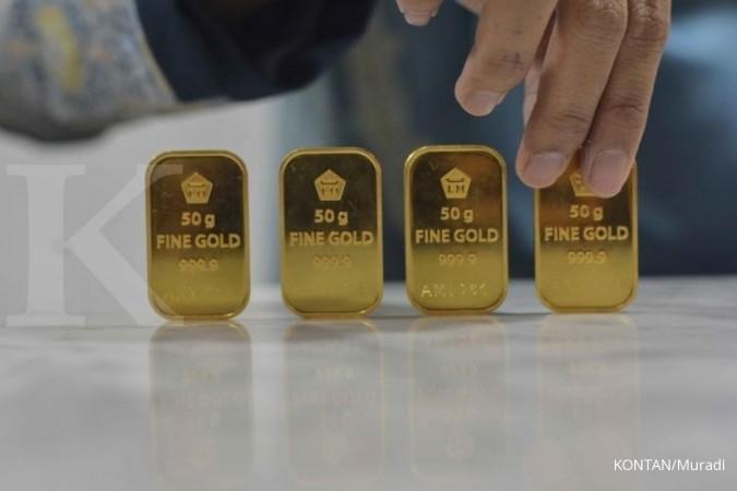 Harga emas Antam tergerus Rp 3.000