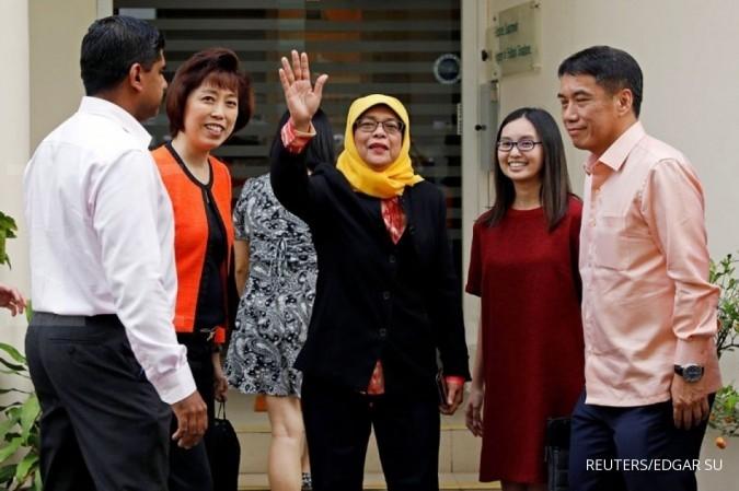 Muslimah & melayu, Halimah ukir sejarah Singapura