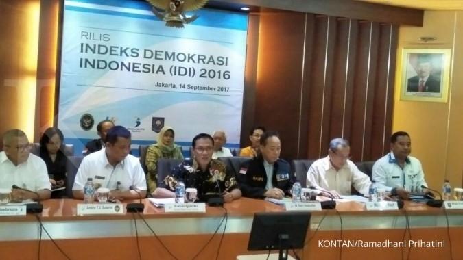 Indeks Demokrasi Indonesia menurun 2,73 poin