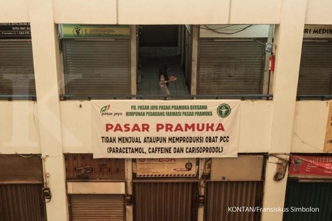 Kios tutup, Pasar Pramuka merugi Rp 5M tiap hari