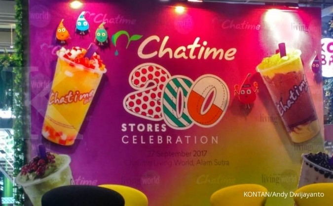 Chatime berencana bangun 70 gerai baru di tahun ini