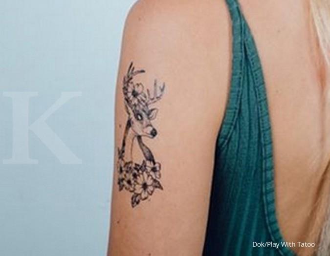 Indahnya melukis laba tatto temporary