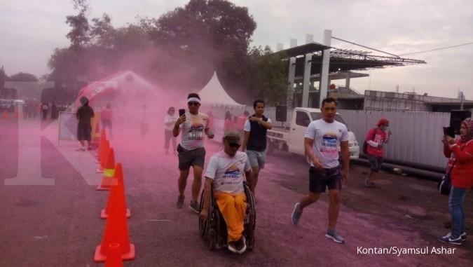 Warna-warni maraton santai CIMB Niaga Color Run
