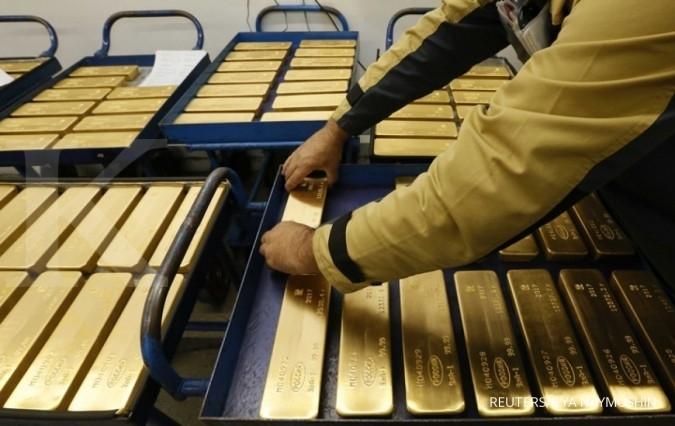 Harga emas lesu di kisaran terendah empat bulan