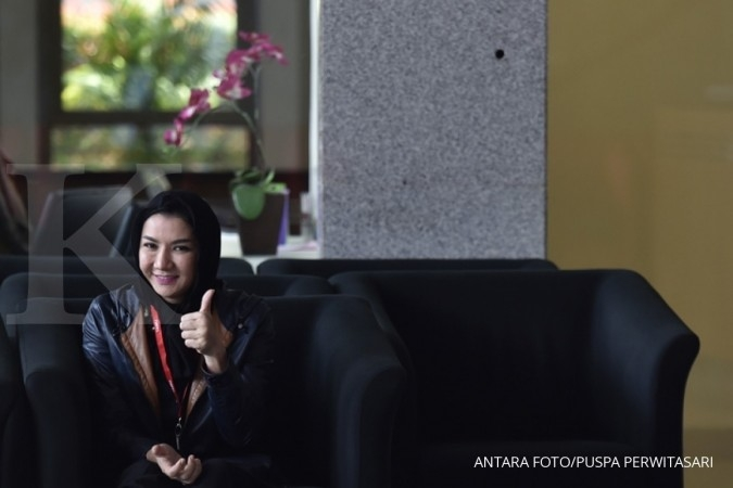 Bupati Kukar Rita ditahan KPK di Rutan Guntur