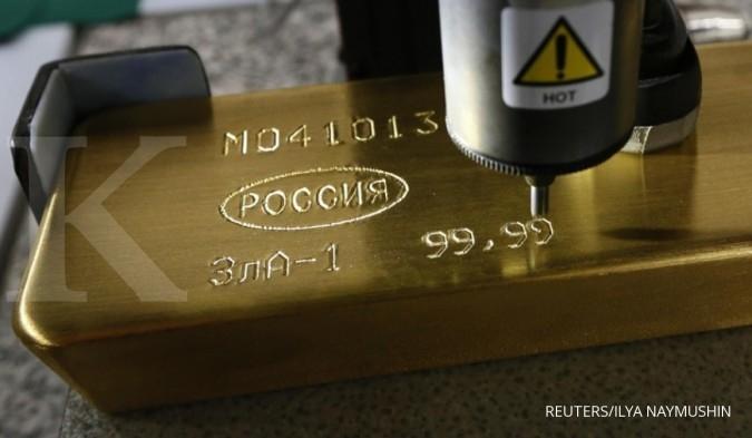 Harga emas melorot tiga hari beruntun