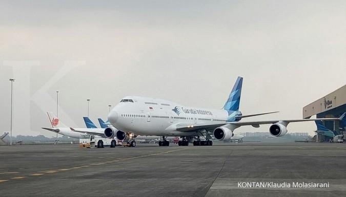 Hari ini penerbangan Garuda indonesia mulai normal