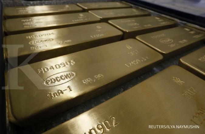 Harga emas menuju koreksi mingguan