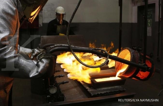 Harga emas tergerus lebih dari 2% sepekan