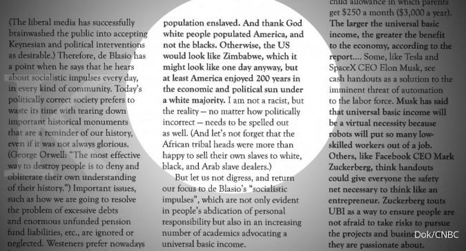 Jadi viral, Bapak Kiamat merilis pernyataan rasis