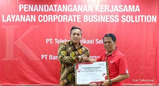 Telkomsel-Bank Mandiri kerja sama layanan bisnis