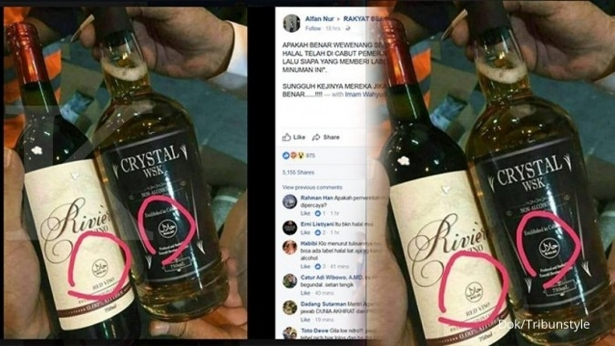 Gambar whiskey label halal berseliweran di medsos