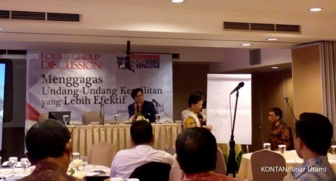 Naskah akademik UU Kepailitan rampung 2018