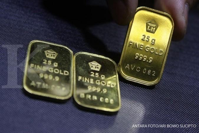 Harga emas Antam stagnan hari ini