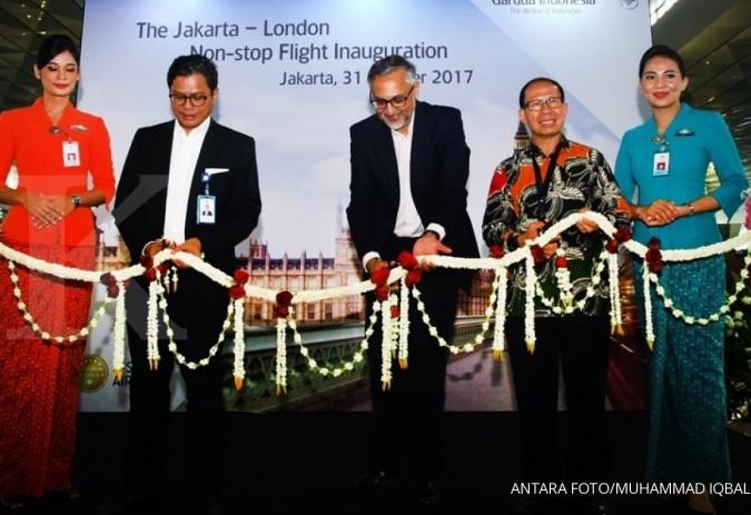 Garuda layani penerbangan Jakarta-London nonstop
