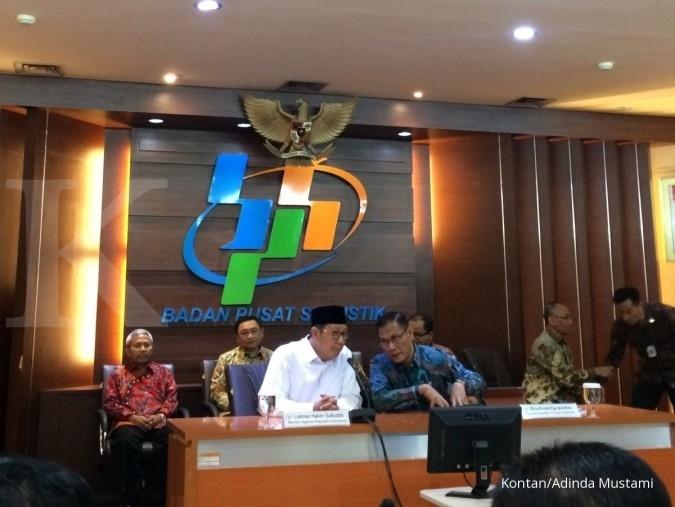 BPS: Inflasi Oktober 2017 sebesar 0,01%