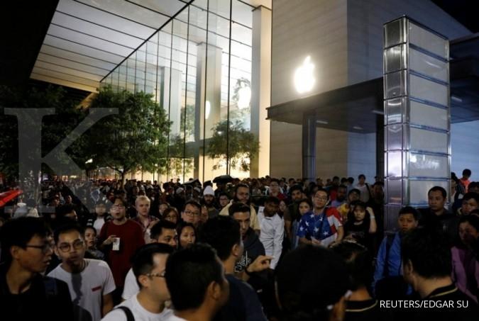 Heboh! Ribuan orang di dunia antre demi iPhone X