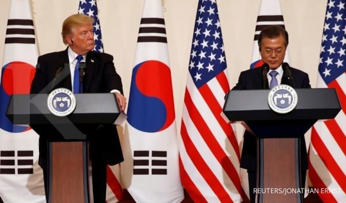Di Korsel, Trump-Moon bahas ambisi nuklir Korut