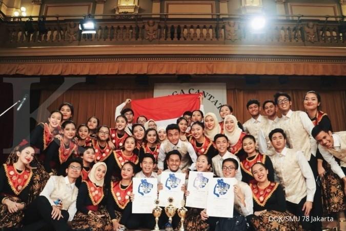 Pelajar Jakarta juara paduan suara di Praha