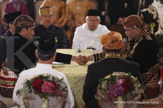 Jokowi's daughter weds Bobby Nasution