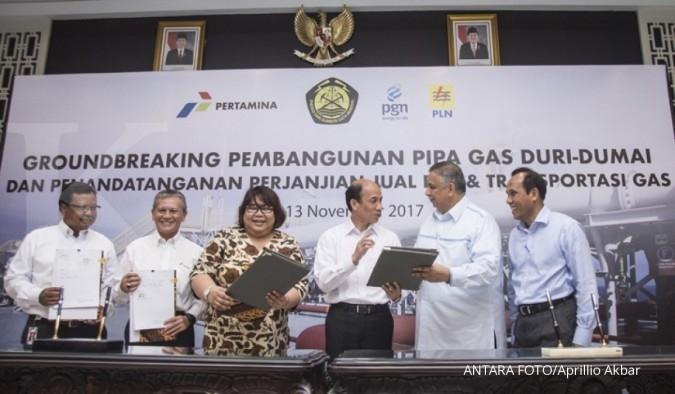 Pertamina-PGN kongsi bangun pipa gas Duri-Dumai