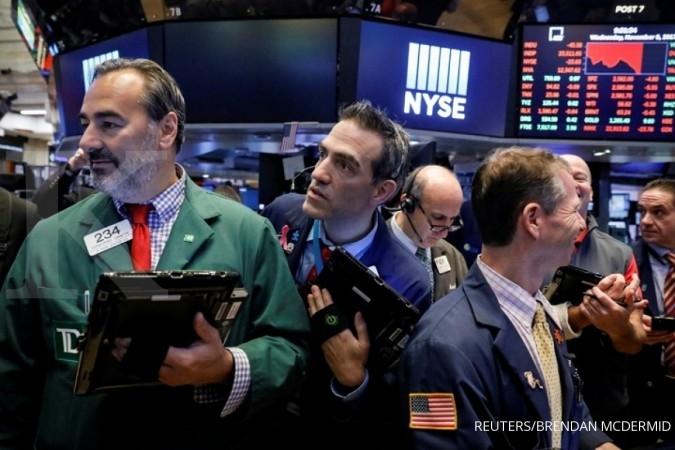Wall Street jatuh, Dow Jones terendah tiga pekan