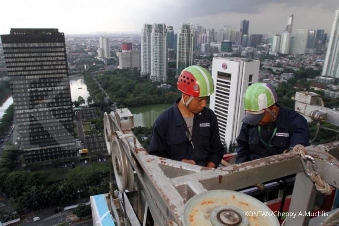 Saint Goban gandeng pekerja bangunan