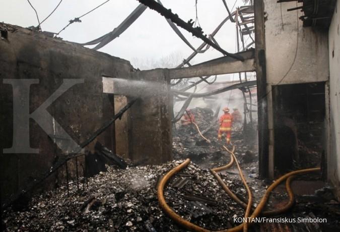 Kebakaran di pusat Kota Bogor, melalap rumah-rumah