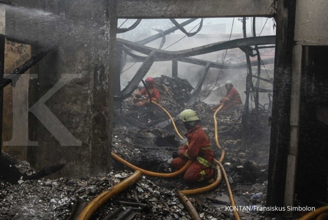 Kantor PLN di Tanjung Priok ludes terbakar