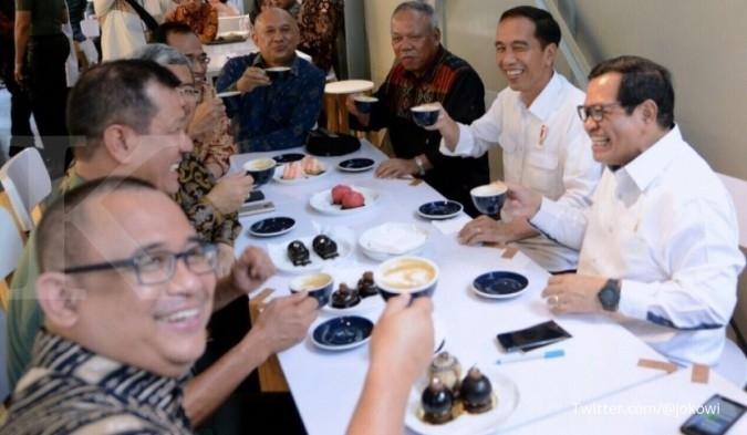 Jokowi ngopi sore di Sejiwa Coffee
