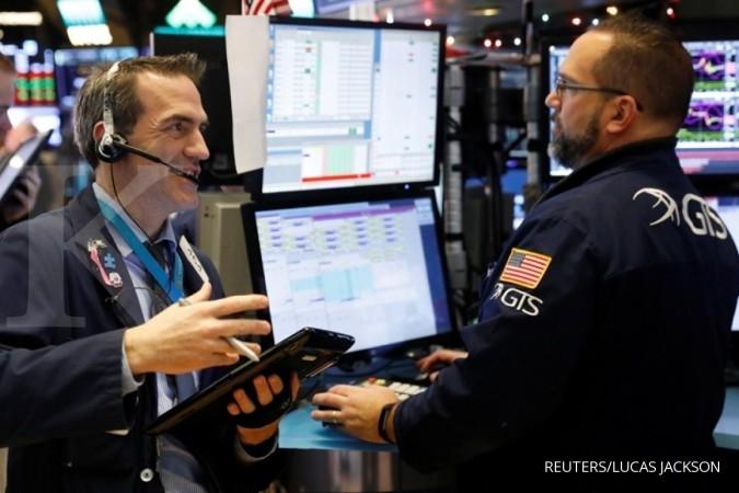 Bursa AS merah jelang penentuan anggaran