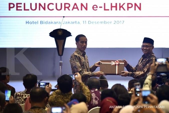 Jokowi paling rajin lapor gratifikasi ke KPK