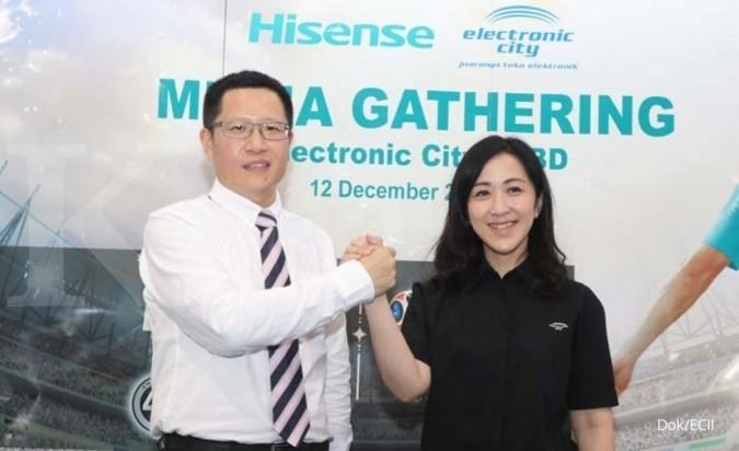 Electronic City jadi distributor resmi TV Hisense