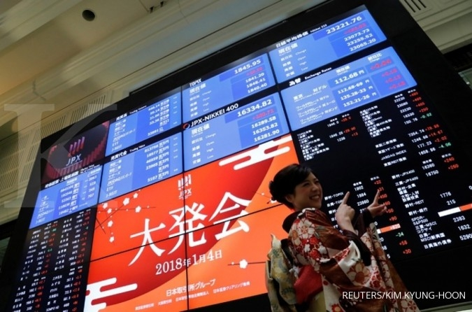 Bursa Asia mengekor penurunan Wall Street