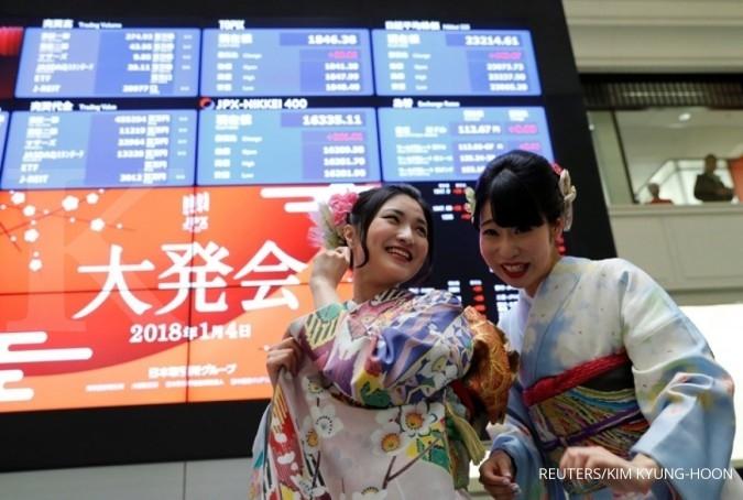 Bursa Asia rehat setelah reli tajam