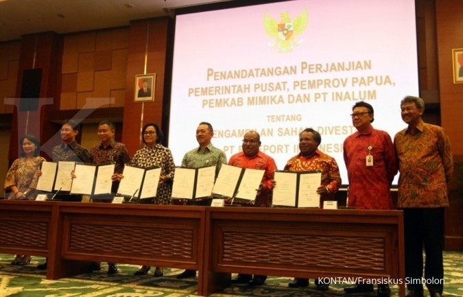 Nego belum kelar, 10% saham Freeport dibagi ke Papua