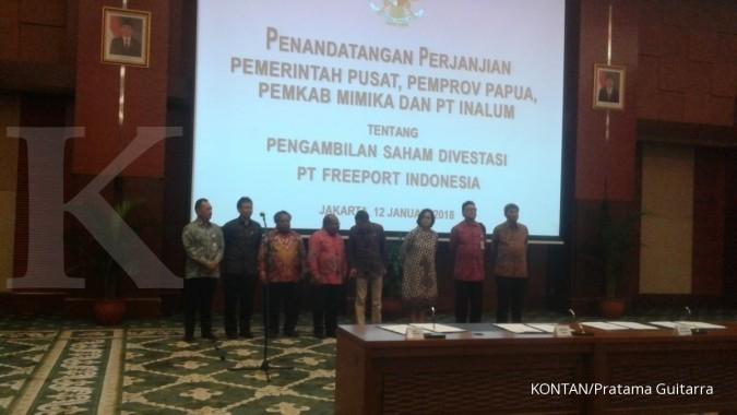 Papua dapat jatah 10% dari divestasi Freeport