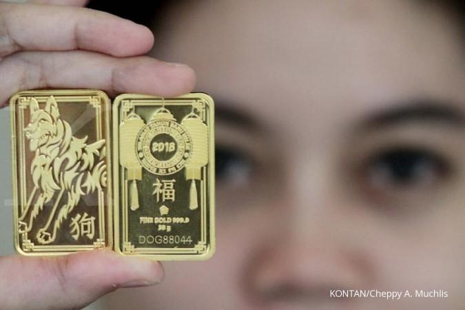 Harga Emas Antam Fluktuatif Ikuti Sentimen Internasional