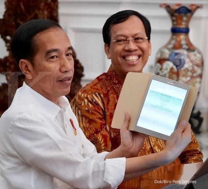 Aksi pamer Presiden Jokowi yang telah melaporkan SPT Pajak secara online