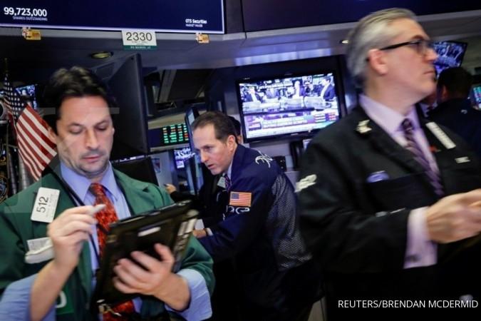 Bursa AS akhirnya menguat ditopang data ekonomi