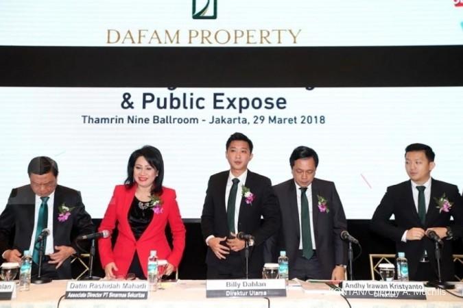 Saham IPO Dafam Property berkisar antara Rp 110-Rp 120