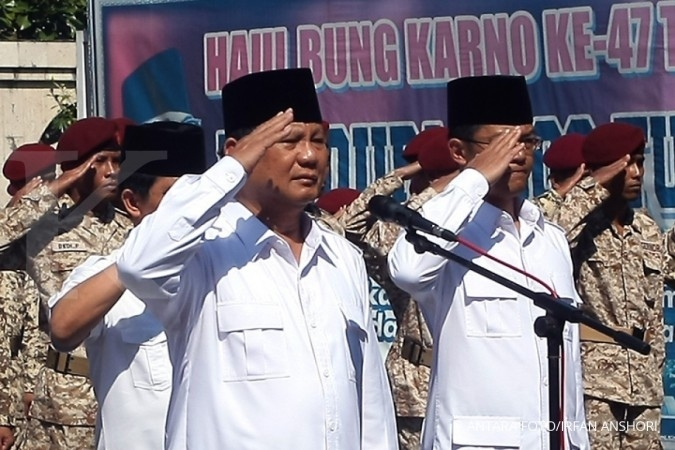 Gerindra's VP list also down to five