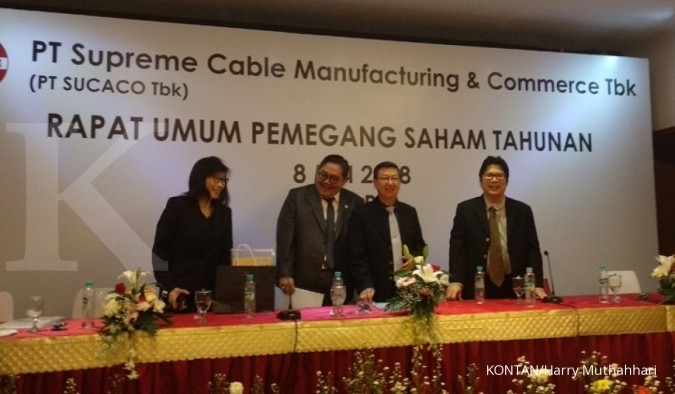 SCCO Naik dua digit, Supreme Cable (SCCO) bukukan pendapatan Rp 5,7 triliun di 2019