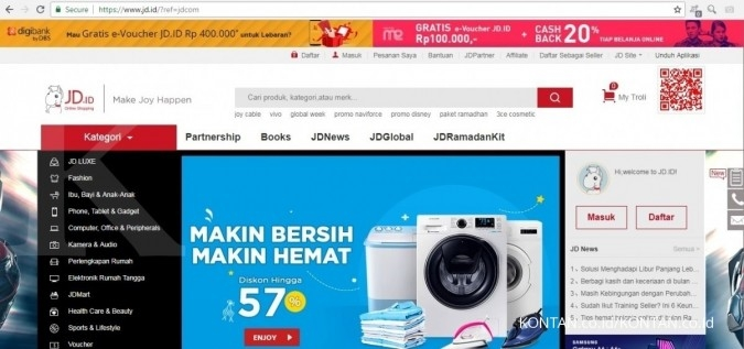 Google tanam modal US$ 550 juta di raksasa e-commerce China JD.com