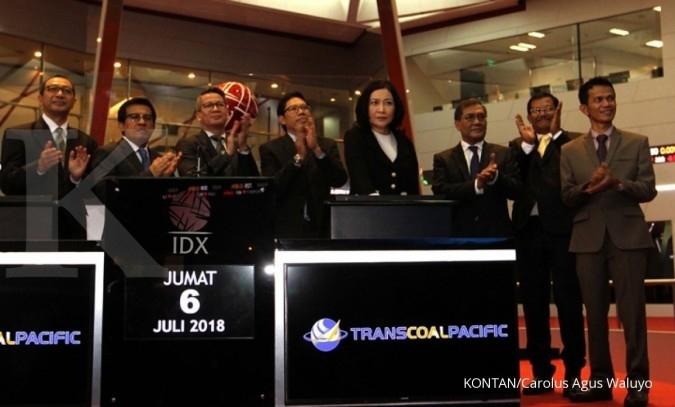Harga saham Transcoal Pacific (TCPI) turun 18% setelah gembok suspensi dibuka