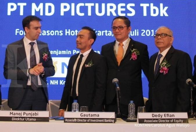 FILM MD Pictures mencatatkan penjualan Rp 232,8 miliar hingga kuartal III-2018