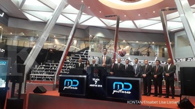 FILM MD Pictures (FILM) baru gunakan Rp 54,08 miliar dari dana hasil IPO