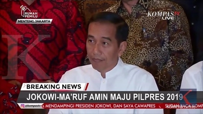 Jokowi will run again in election 2019, chose ulema senior as running mate